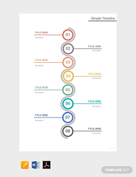 Timeline Photo Template Free Simple Timeline Template Pdf Word Excel