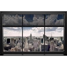 Wandbild New York Fenster Lamellen 90 Cm X 60 Cm Kaufen Bei Obi