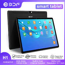 Máy Tính Bảng Mười Nhân BDF 10.1 Inch, PC S10 8 Ram 128 Rom Android 10.0  Dual 4G LET Network SIM Kép Máy Tính Bảng Tăng Tốc AI GPS Bluetooth Wifi -