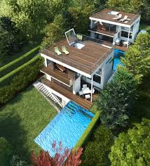 Outdoor Living Rooms   Modern House Designs   Page Three Story House Plans by Architekt DI Johann Lettner