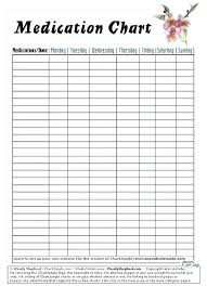 Daily Medication Chart Template Printable Medicine Schedule Template