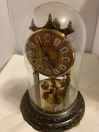 hermle clock made in germany brass