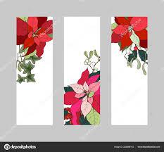 Christmas Banner Pflanzen Reihe Von Vertikalen Banner Mit