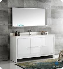 white single sink bathroom vanities. Fresca Allier 60\ White Single Sink Bathroom Vanities L