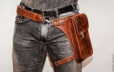 Utility Belt Leather <b>Belt Bag</b> Hip <b>Hunter</b> Belt with by leilamos ...