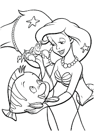 Little Mermaid Coloring Pages Free Printable Coloring Page Little