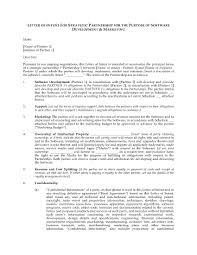 Letter Of Intent For Software Development Partnership