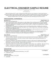 Electrical Engineering Sample Resumes Electrical Designer Sample Resume Podarki Co