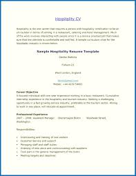 Sample Resume For Hospitality And Tourism Management Refrence