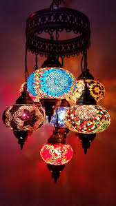turkish moroccan style mosaic lamp 7 globe hanging chandeliers handmade 10 handmade country