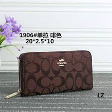 Coach Logo Monogram LZ1906 Wallet In Coffee