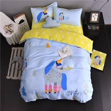 yellow single duvet cover set object rainbow color stripes boys bedding set for single double