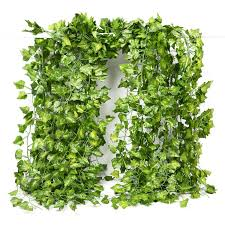 fake vines ivy leaves garland 24 strands 168ft artificial plants greenery garland faux green hanging plant flowers vine for wall party wedding room home