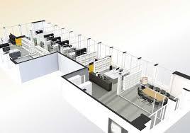 3d office floor plan. Fine Office Office Layout Floor Plan 3D Design Interactive Floor  Design And 3d Plan N