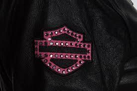 harley davidson 98022 12vw womens pink label embellished black leather jacket com