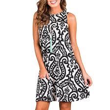 Dámské Letní šaty Evaline černo Bílé