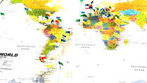 World Travel Map With Pins Interior Design Trends