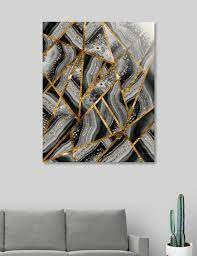 gold geometric glam 3 geo decor art