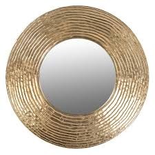 large round gold ripple mirror 108cm exclusive mirrors with regard to decorations 5