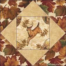269 best QUILTS w PANELS images on Pinterest | Easy quilts, Kid ... & Deer Quilt Patterns | Deer Fawn Buck Fabric Wildlife Quilt Top Kit Blocks  Fussy Cutter Quilt Adamdwight.com