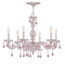 impressive shabby chic chandelier pink shab chic chandelier