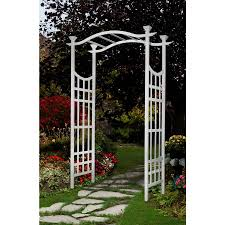 garden arbor lowes.  Lowes Loweu0027s Garden Arch 50 New England SemiGloss White Arbor 53 Throughout Lowes A
