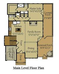 rustic mountain or lake floor plan with screened