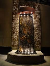office water features. tall water feature with logo office features 2
