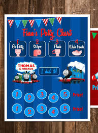 Thomas And Friends Themed Reward Chart Potty Chart Digital Pdf Files Or Minnie Mickey Frozen Paw Patrol Princesses And More