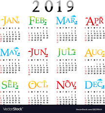 Calendar Planner Happy New Year 2019