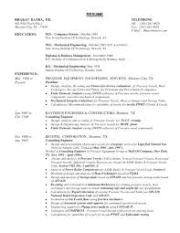 Mechanical Engineering Resume Templates Format For Fresher Fresh E