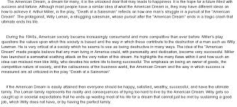 essay american dream death of a sman essay about the american dream in death of a sman bartleby