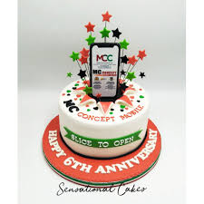 Corporate Cake Anniversary Mc Concept Mobilte Theme Custom Cake