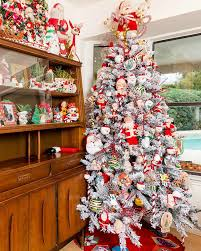 christmas tree lighting ideas. Frosty Flocked Christmas Tree Design Ideas Of Ceramic Light Bulbs Lighting