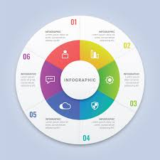 Circle Website Design Vector Infographic Circle Template With 6 Options For