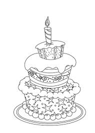 Verjaardag Kleurplaat Taart Archidev