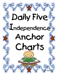 Daily Five Chart Printables Daily Five Anchor Chart Printables Daily 5 Daily Five