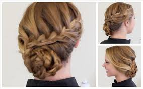 Luxy Youtube Braided Fine Easy Updos For Short Hair With Braids