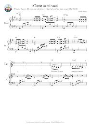 Come tu mi vuoi Sheet music for Piano, Flute, Tenor, Alto, Oboe (Mixed  Quintet) | Download and print in PDF or MIDI free sheet music for Come tu  mi vuoi by Daniele