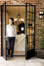 exterior steel double doors. Steel Windowed French Doors. Love These. I Want To Do This From My Dining Room Outside. Exterior Double Doors O