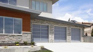 Modern garage door Diy Tungsten Royce Modern Glass Garage Doors