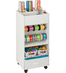 Gift Wrap Cart  Wrapping Organizer Plastic Storage Container Gift Wrap Storage Container94