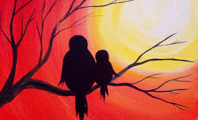 Easy Painting Easy Acrylic Painting Simple Mama Bird Sunset The Art Sherpa