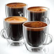 espresso glass cup espresso cups or glasses set of 4 double walled coffee shot glass 5 espresso glass cup