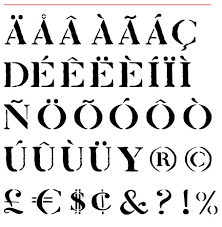 Number Stencil Font Jake Tilson Font Venice Nizioleto