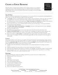 Creating A Great Resume Resume Online Builder
