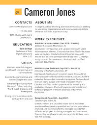 Cv Resume Template 2017 In Administative Worker Best Cv Sample Png