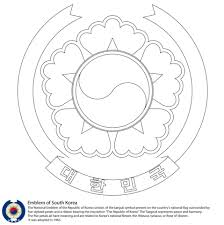 Small Picture Emblem of South Korea coloring page Free Printable Coloring Pages