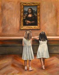 monalisa painting watching mona lisa by escha van den bogerd