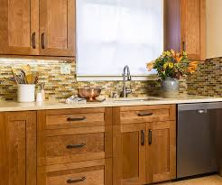 kitchen brown glass backsplash. Kitchen With Mosaic Glass Backsplash Brown Style